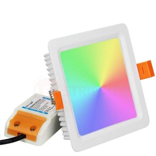 Milight / MiBoxer 9 Watt RGB + Warm Wit + Koud Wit CCT Downlight Vierkant