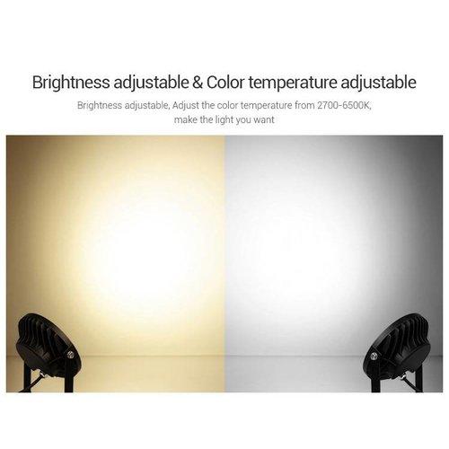 Milight / MiBoxer 15 Watt 230 Volt RGB + Warm Wit + Koud Wit Tuinlamp