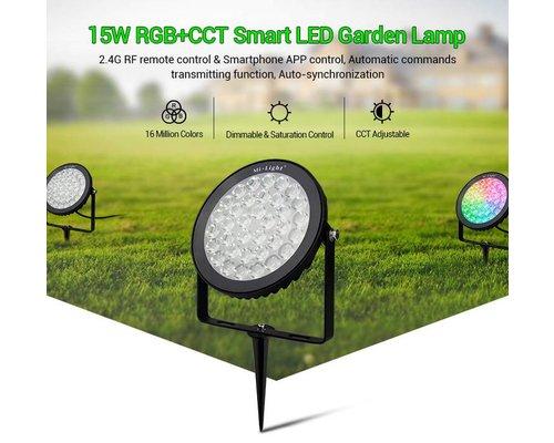 Milight 15 Watt 230 Volt RGB + Warm Wit + Koud Wit Tuinlamp