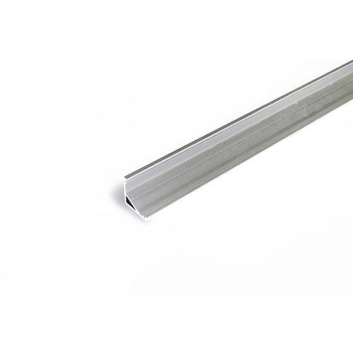 TOPMET Aluminium hoek profiel 2 meter met groot schijnvlak CABI12