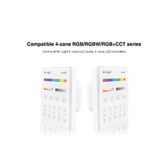 Draadloos 2,4Ghz Inbouw Wandpaneel 230 Volt 4 Zone RGB+CCT