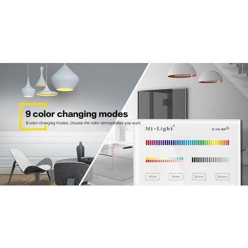 Milight Draadloos 2,4Ghz Inbouw Wandpaneel 230 Volt 4 Zone RGB+CCT