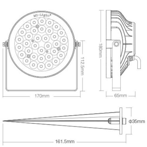 Milight 25 Watt 230 Volt RGB + Warm Wit + Koud Wit Tuinlamp