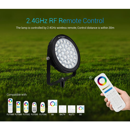 Milight / MiBoxer 25 Watt 230 Volt RGB + Warm Wit + Koud Wit Tuinlamp