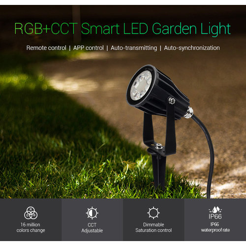 Milight 6 Watt 230 Volt RGB + Warm Wit + Koud Wit Tuinlamp
