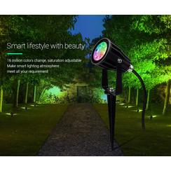 6 Watt 230 Volt RGB + Warm Wit + Koud Wit Tuinlamp