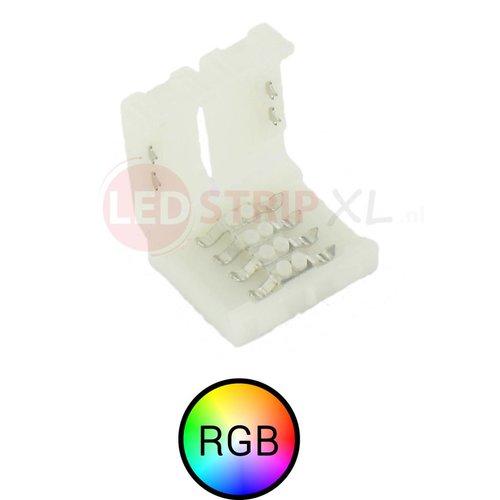 RGB ledstrip connector koppelstuk 4-aderig, verbinden zonder te solderen