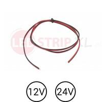 LED Stroom Kabel DC voor 12 en 24 Volt Zwakstroom per meter