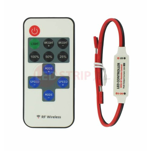 LED Mini RF Controller Set voor Enkelkleurige LED Strips