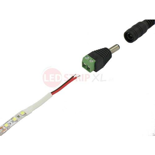 LED Jack DC Socket Male naar draad connector