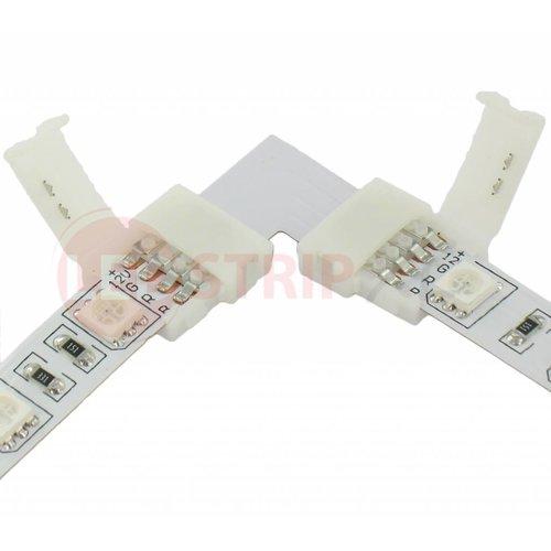 RGB ledstrip connector koppelstuk voor hoeken 4-aderig, verbinden zonder te solderen