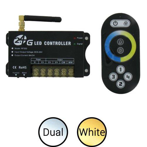 ledstrip dual white (instelbaar wit) 2.4 Ghz. RF afstandsbediening en controller set
