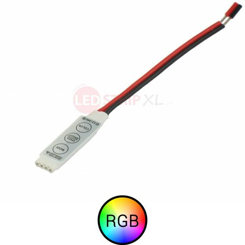 Mini controller met draad voor RGB ledstrips 12-24V