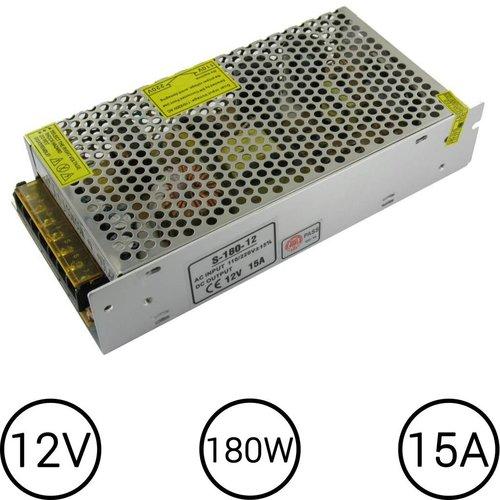 LEDStrip Voedingsadapter12 Volt 15 Ampere Transformator