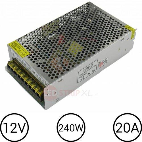 LEDStrip Voedingsadapter 12V 20 Ampere Transformator