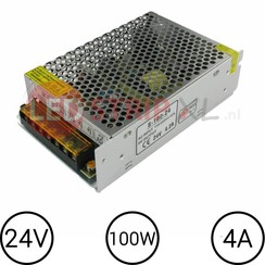 24V LED Voeding 4 Ampère 100W
