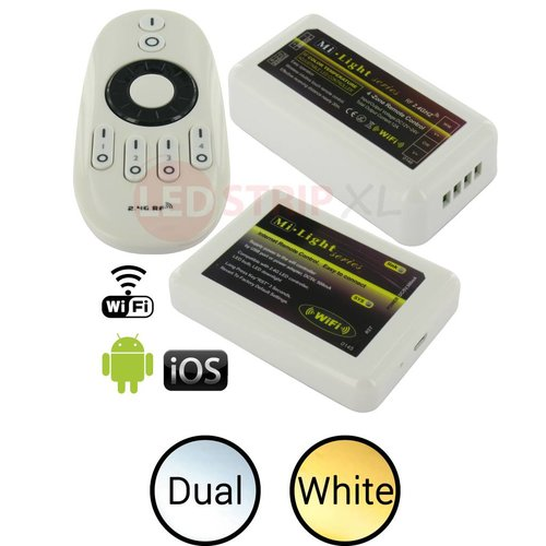 Milight / MiBoxer LED Strip Dual White 4-Zone RF en WiFi controller SET