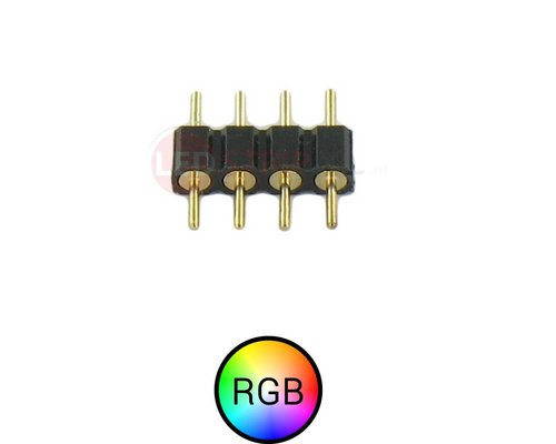 4 Pins Male Male connector voor RGB LED Strips
