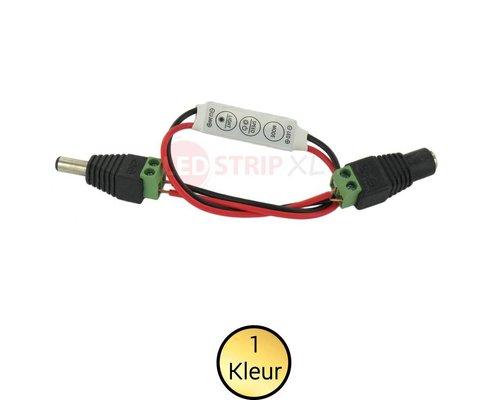 LEDStrip mini controller en dimmer voor enkelkleurige strips 12-24V los