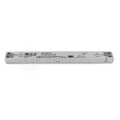 GLP Extra smalle LED driver/transformator 12V 100W 8.34A