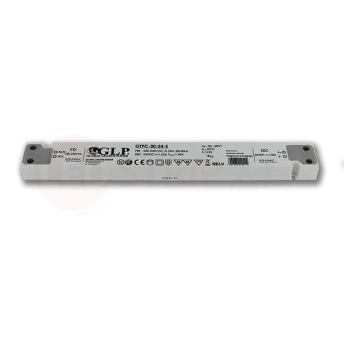 GLP Extra smalle LED driver/transformator 24V 30W 1.25A