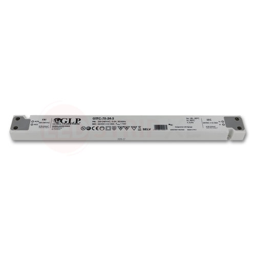 GLP Extra smalle LED driver/transformator 24V 75W 3.12A