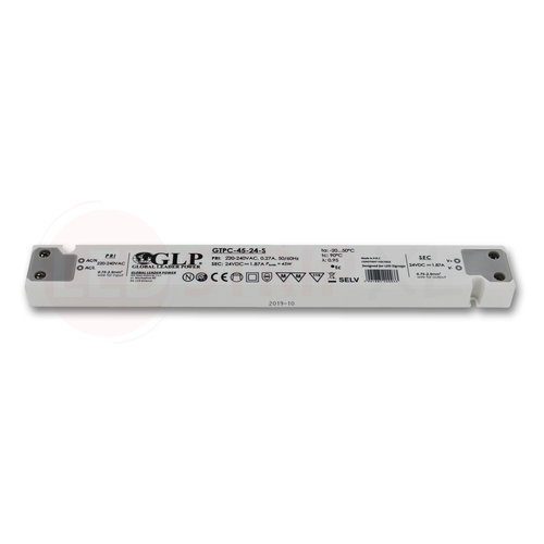 GLP Extra smalle LED driver/transformator 24V 45W 1.9A