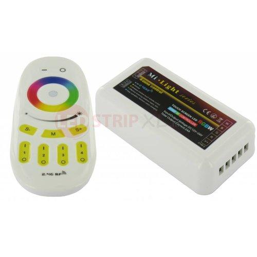 Milight / MiBoxer RGBW (multikleur + warm wit) LEDStrip 4-zone RF SET