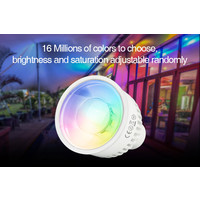 Milight RGB+CCT LED Spot 6W GU10 met diffuse lens