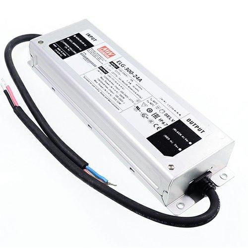 Mean Well Spatwaterdichte 24 Volt Transformator 12.5 Ampère 300 Watt