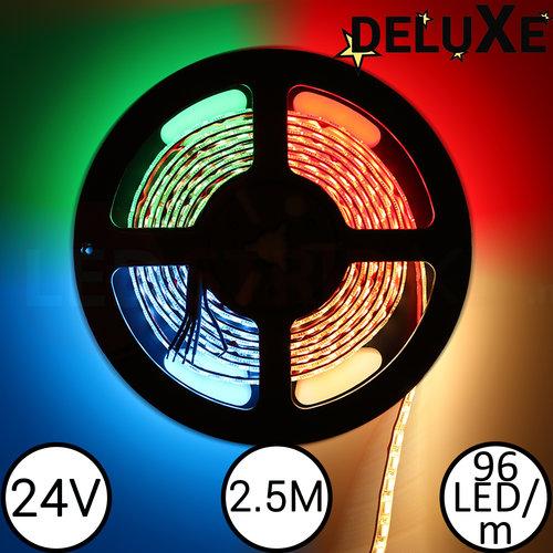 LED Strip RGBW DELUXE 2.5 Meter 96 LED per meter 24 Volt