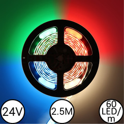 LEDStrip RGBW 2,5 Meter 60 LED 24 Volt