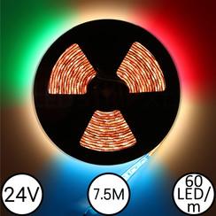 LEDStrip RGBW 7,5 Meter 60 LED 24 Volt