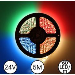 LEDStrip RGBW 5 Meter 60 LED 24 Volt