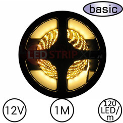 LEDStrip Warm Wit 1 Meter 120 LED 12 Volt - Basic