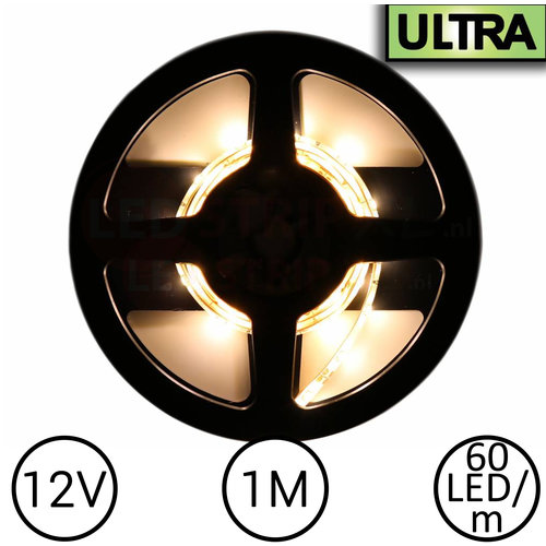LED Strip Warm Wit 1 Meter 60 LED per meter 12 Volt - Ultra