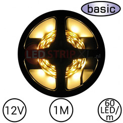 LEDStrip Warm Wit 1 Meter 60 LED 12 Volt - Basic