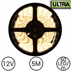 LED Strip Warm Wit 5 Meter 60 LED 12 Volt - Ultra