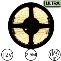 LED Strip Warm Wit 2,5 Meter 120 LED 12 Volt - Ultra