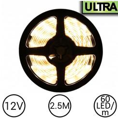 LED Strip Warm Wit 2.5 Meter 60 LED 12 Volt - Ultra