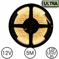 LED Strip Warm Wit 5 Meter 120 LED 12 Volt - Ultra