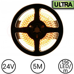 LED Strip Warm Wit 5 meter 196 LED 24 Volt - Ultra