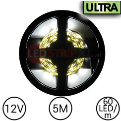 LED Strip Helder Wit 5 Meter 60 LED 12 Volt - Ultra