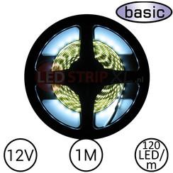 LEDStrip Koud Wit 1 Meter 120 LED 12 Volt - Basic