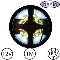 LEDStrip Koud Wit 1 Meter 60 LED 12 Volt - Basic