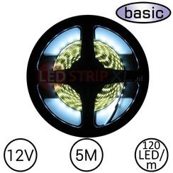 LEDStrip Koud Wit 5 Meter 120 LED 12 Volt - Basic
