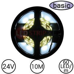 LEDStrip Koud Wit 10 Meter 60 LED 24 Volt - Basic