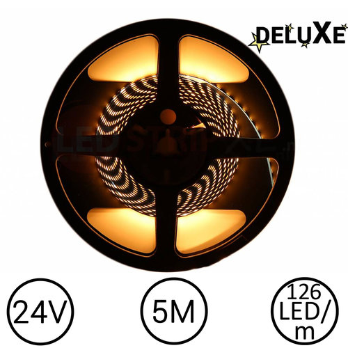 Nichia LED Strip 2500K Warm Wit 5 meter 24V - Deluxe