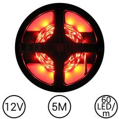 LEDStrip Rood 5 Meter 60 LED 12 Volt