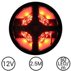 LEDStrip Rood 2,5 Meter 60 LED 12 Volt
